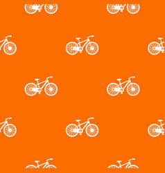 bicycle pattern seamless vector image vector image