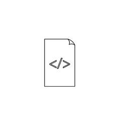 coding file icon vector image vector image