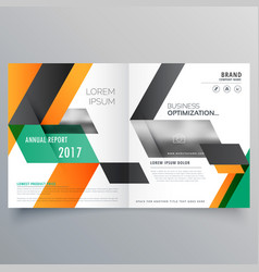 creative bifold brochure design template with vector image