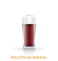 dark beer glass vector image vector image