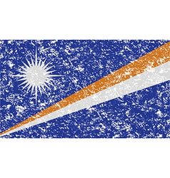 Flag of Marshall Islands with old texture vector image