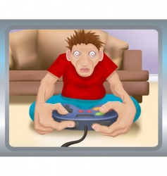 gamer illustration vector image