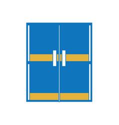 glass door icon image vector image vector image