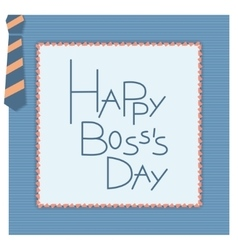 Happy boss day invitation card vector image