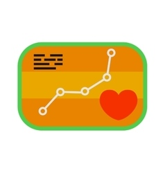 Heartbeat icon sport ecg concept load level badge vector