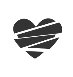 icon broken heart vector image vector image