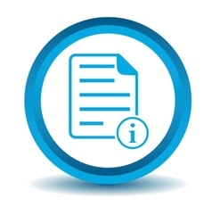 Information document icon blue 3d vector