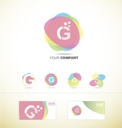 Letter g pastel colors logo vector