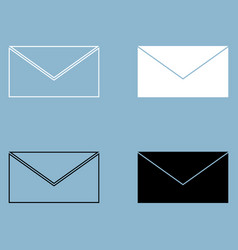 Mail the black and white color icon vector