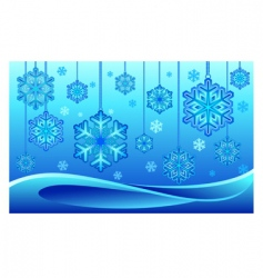 snowflake on thread vector image vector image