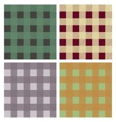 Tartan plaid pattern seamless set vector