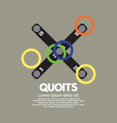 Top View Of Quoits vector image