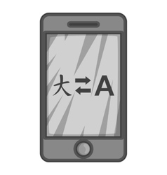 Translation from japanese to english on phone icon vector