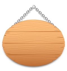 Wooden signboard vector image