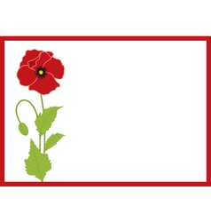 Poppy card vector