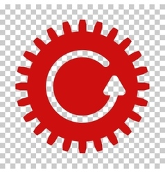 Rotate cog icon vector
