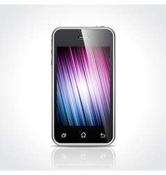 Shiny touchscreen mobile vector