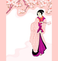 Spring beauty vector