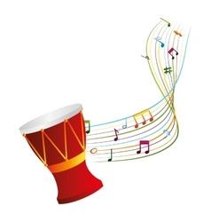 Drum musical instrument icon vector
