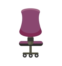 Purple office chair icon vector