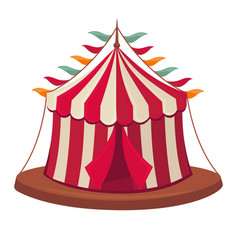 Circus tent isolated flat icon vector