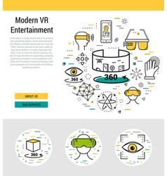 Header template - modern entertaiment vector