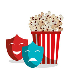 pop corn isolated icon vector image