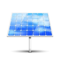 Solar panel on white vector