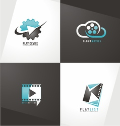 Movie logo designs vector
