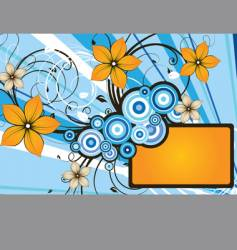 Floral abstract banner vector