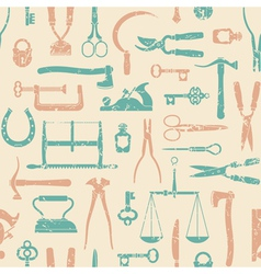 Vintage tools and instruments pattern 1 vector