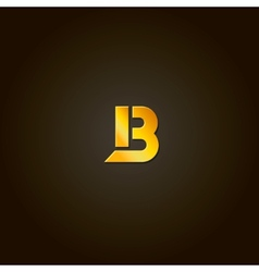 Letter B gold font Template for company vector image