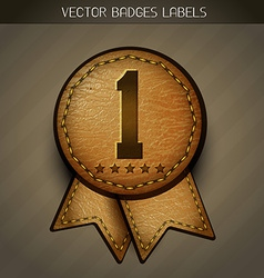 Leather best label vector