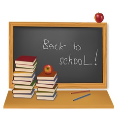 back to school school books vector image
