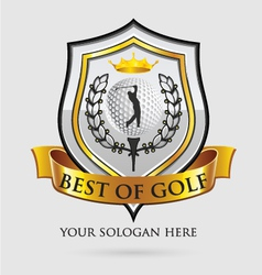 best of golf vector image