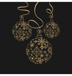 cute christmas composition with balls - vector image