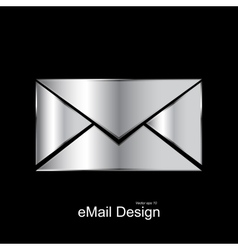 Metallic message icon vector image
