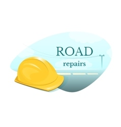 Road repair concept design vector