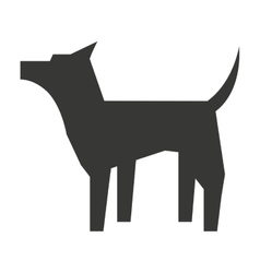 Cute dog silhouette isolated icon design vector
