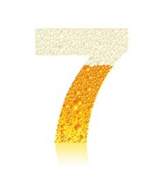 alphabet beer vector image vector image