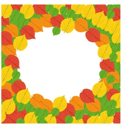 Autumn Frame - vector image vector image