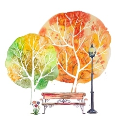 Autumn square background vector image vector image