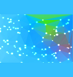 Blue green red geometric background with lights vector