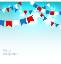 Blue sky with colorful vector image