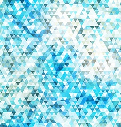 blue triangle seamless texture with grunge effect vector image
