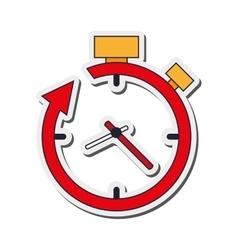 Clock and arrow icon vector