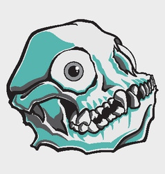 Comical skull vector