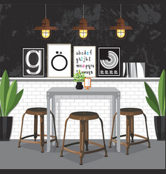 Dining room decorating vector