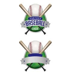 Fantasy baseball draft vector