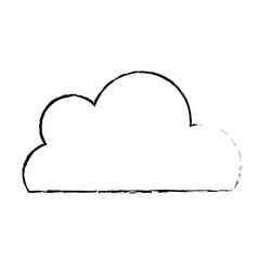 figure nice cloud natural weather design vector image vector image